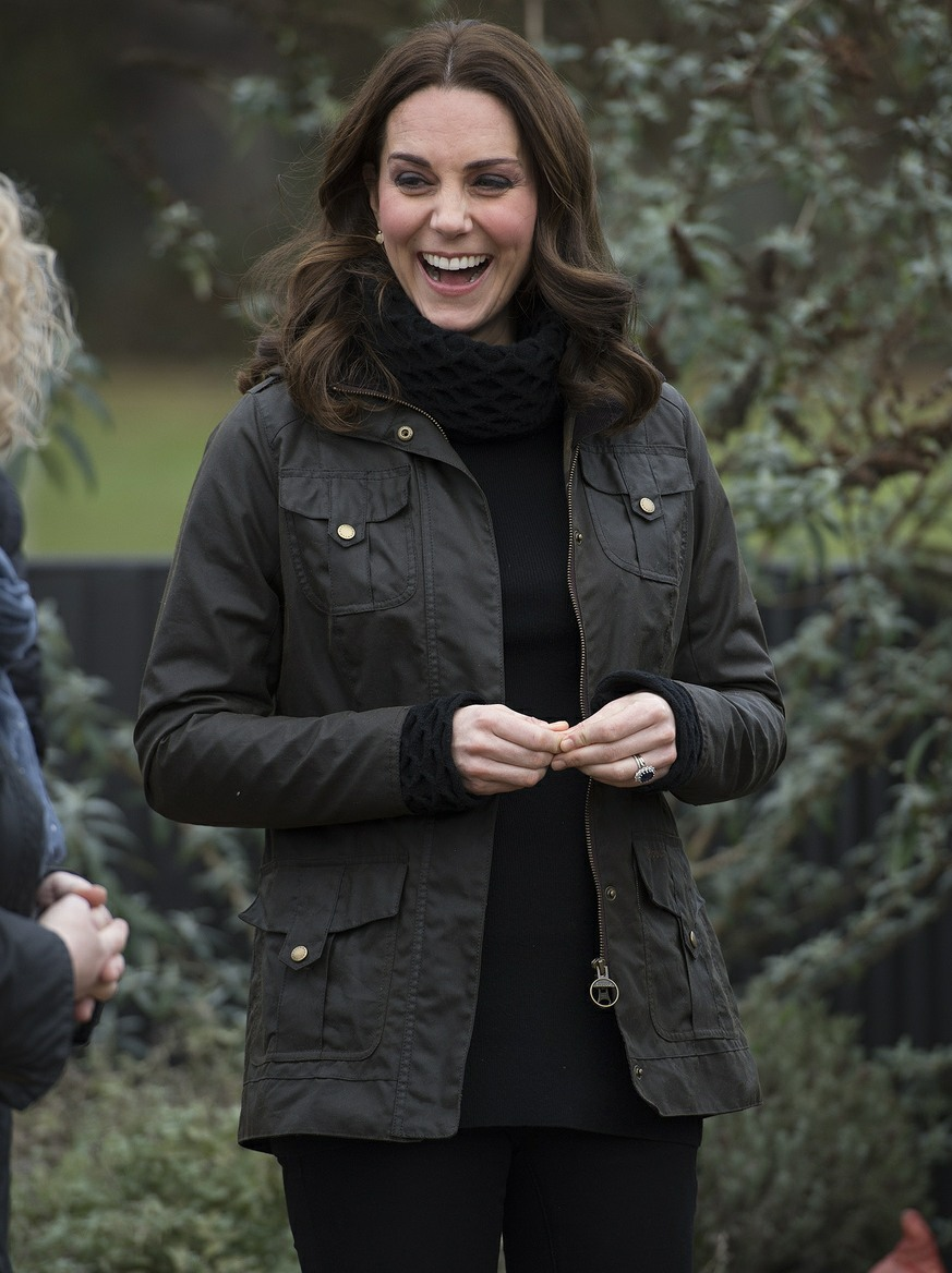 Catherine, Duchess of Cambridge, visits Robin Hood Primary School in London to celebrate ten years of the Royal Horticultural Society Campaign for School Gardening