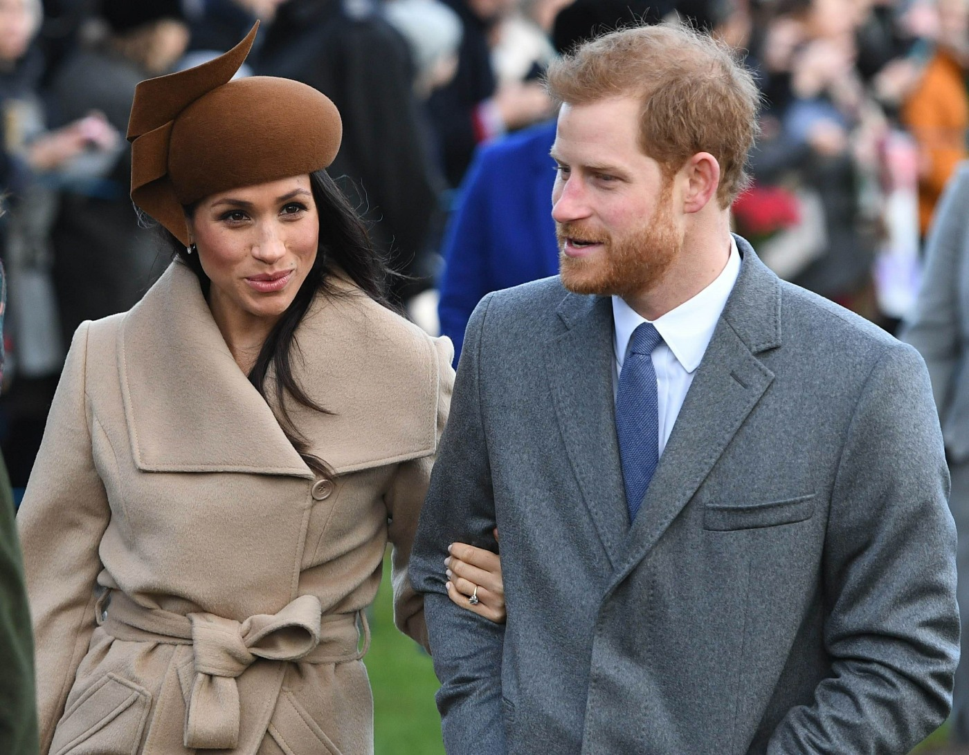 The royal family attends a Christmas Day church service in Britain