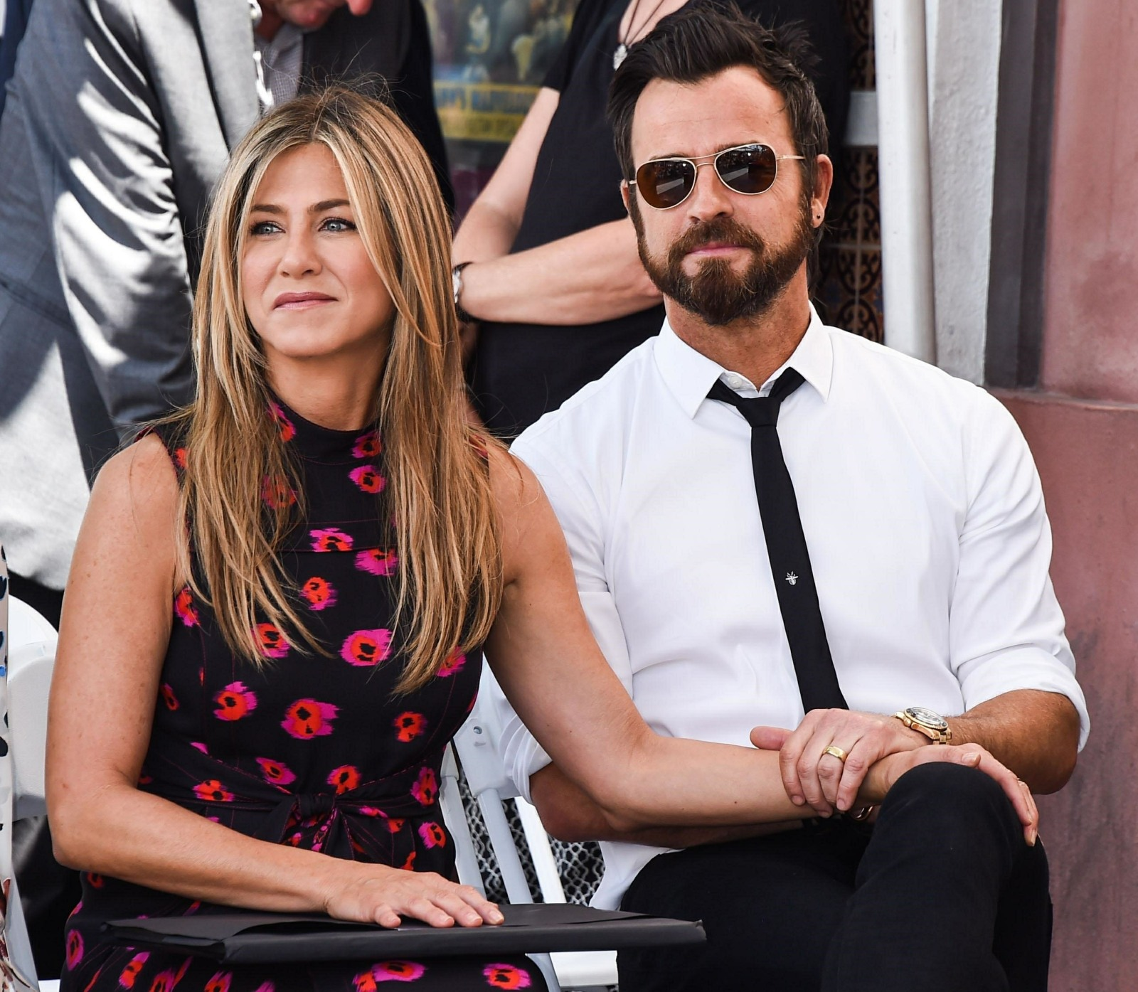 Jennifer Aniston and Justin Theroux attend Jason Bateman's Walk of Fame ceremony