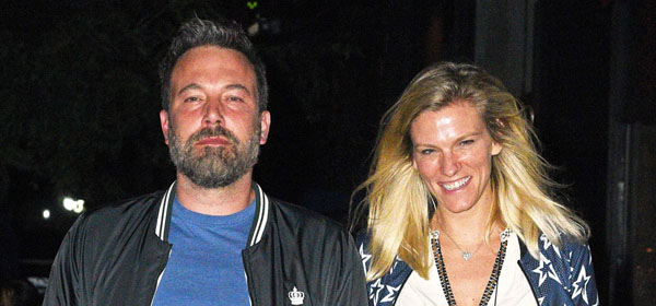 Ben Affleck and Lindsay Shookus hold hands during a dinner date in NYC