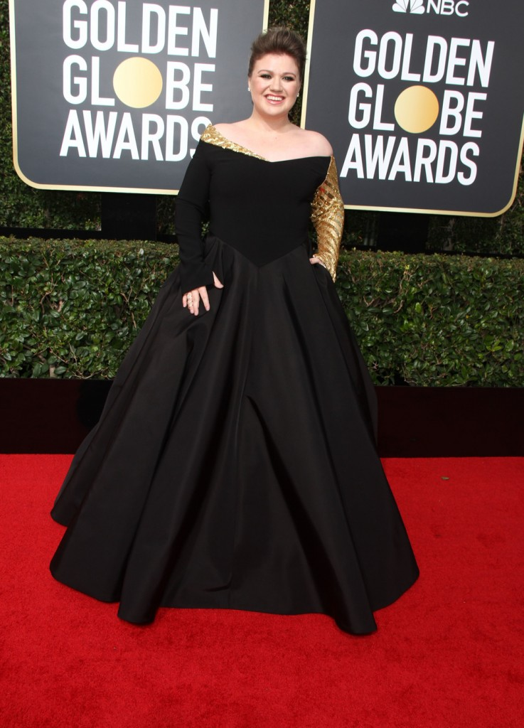 Kelly Clarkson at the 75th Annual Golden Globe Awards at The Beverly Hilton Hotel in Beverly Hills