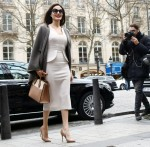 Angelina Jolie visits the Guerlain store in Paris