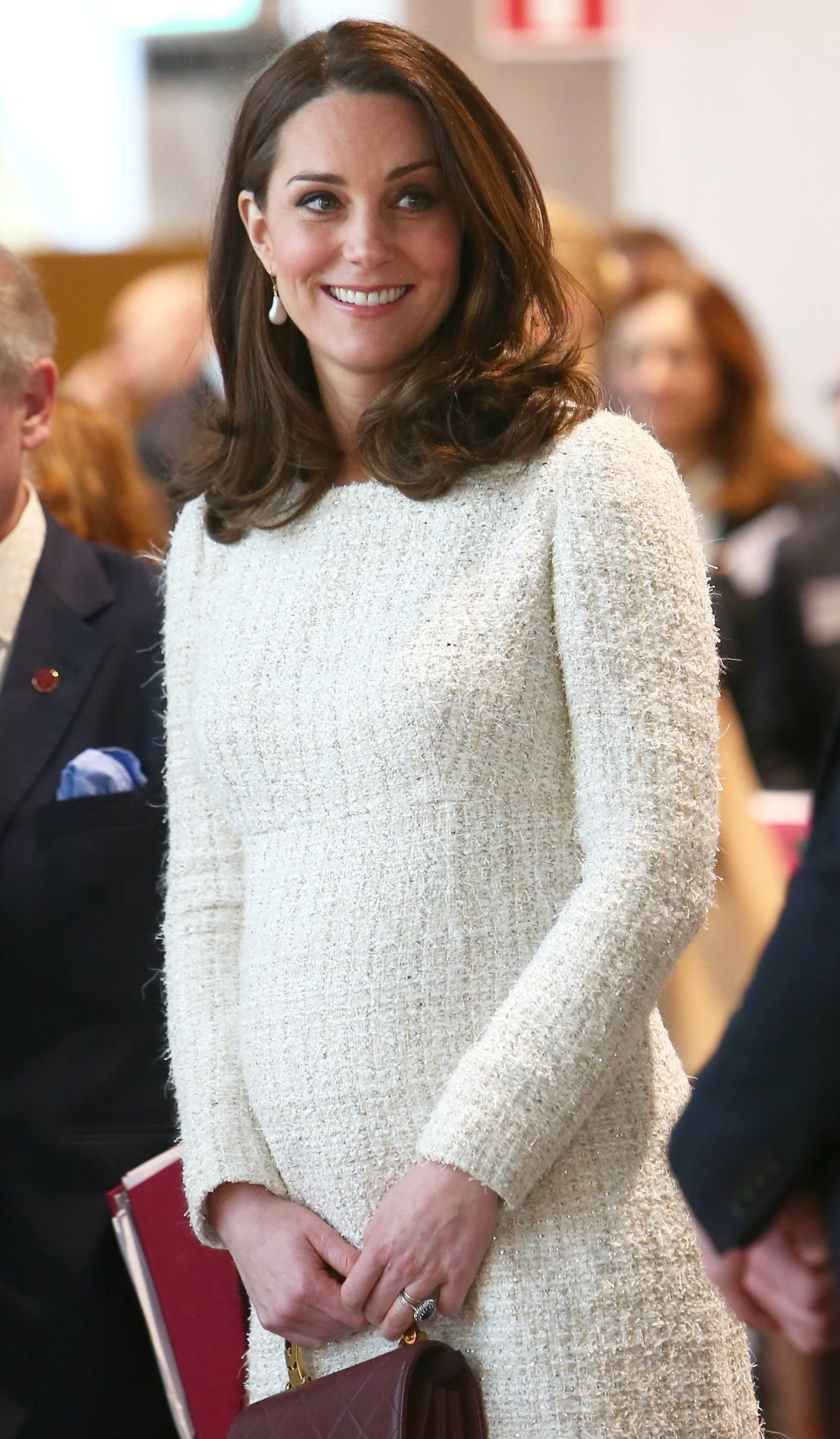 The Duke and Duchess of Cambridge, accompanied by Crown Princess Victoria and Prince Daniel, visit The Karolinska Institute