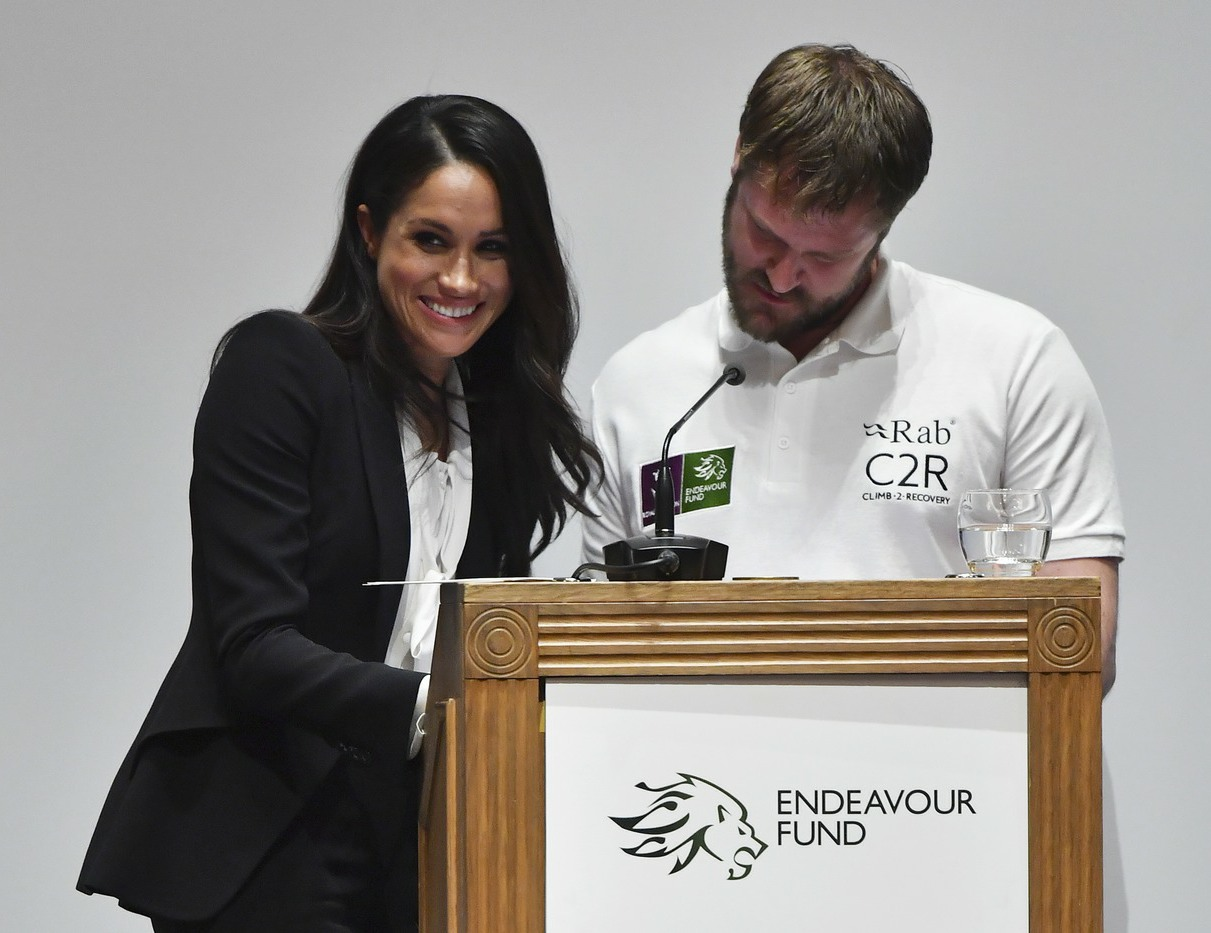 Prince Harry and Meghan Markle present the annual Endeavour Fund Awards at London's Goldsmiths' Hall