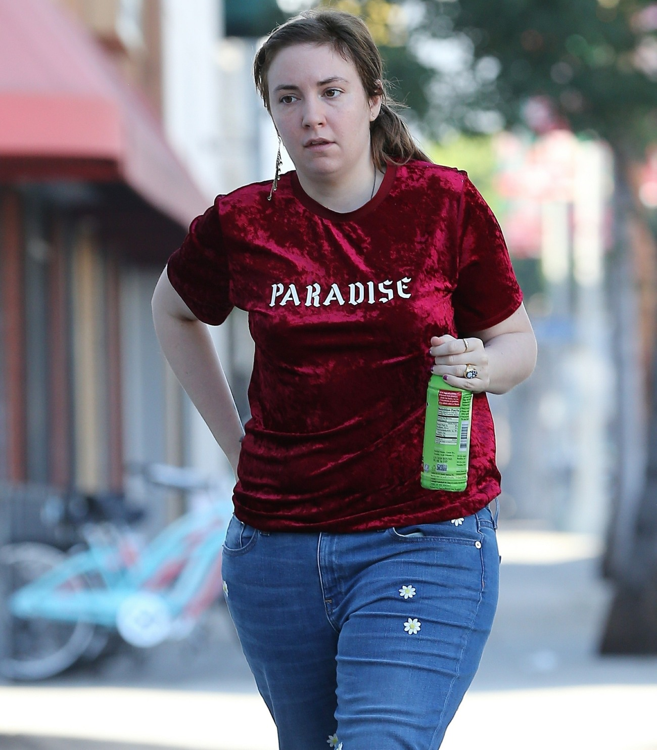 Lena Dunham is looking gloomy while out running errands