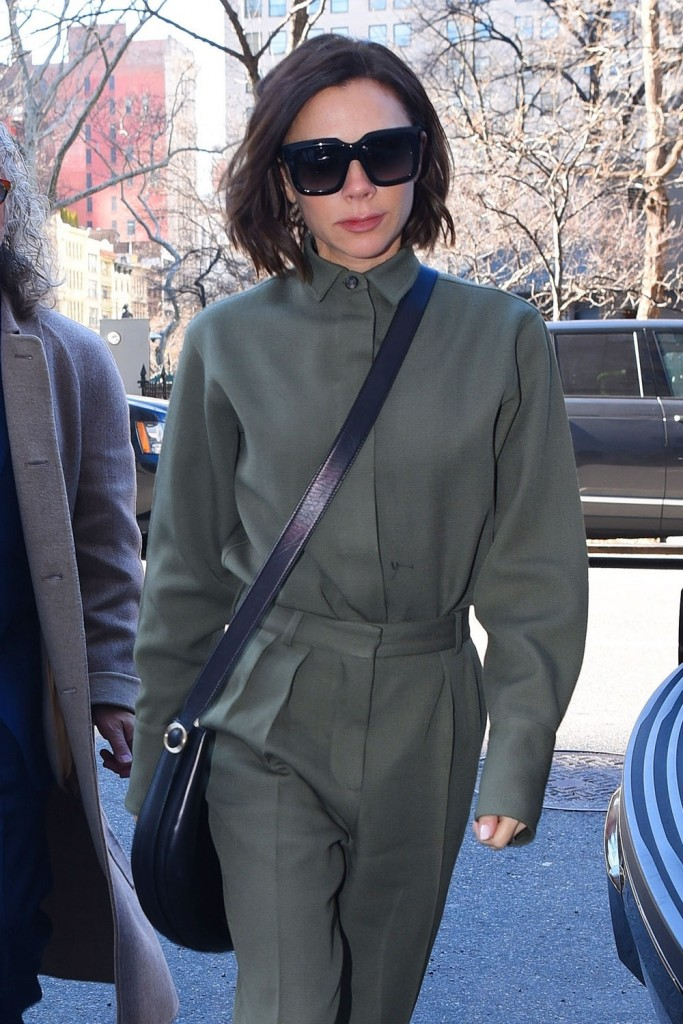 Victoria Beckham arrives back to her hotel in NYC