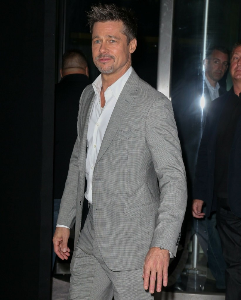 "Brad Pitt arrives for the ""Okja"" premiere in New York City"