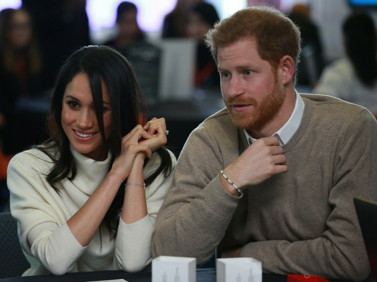 Prince Harry and Meghan Markle attend an event at Millennium Point to celebrate International Women's Day in Birmingham