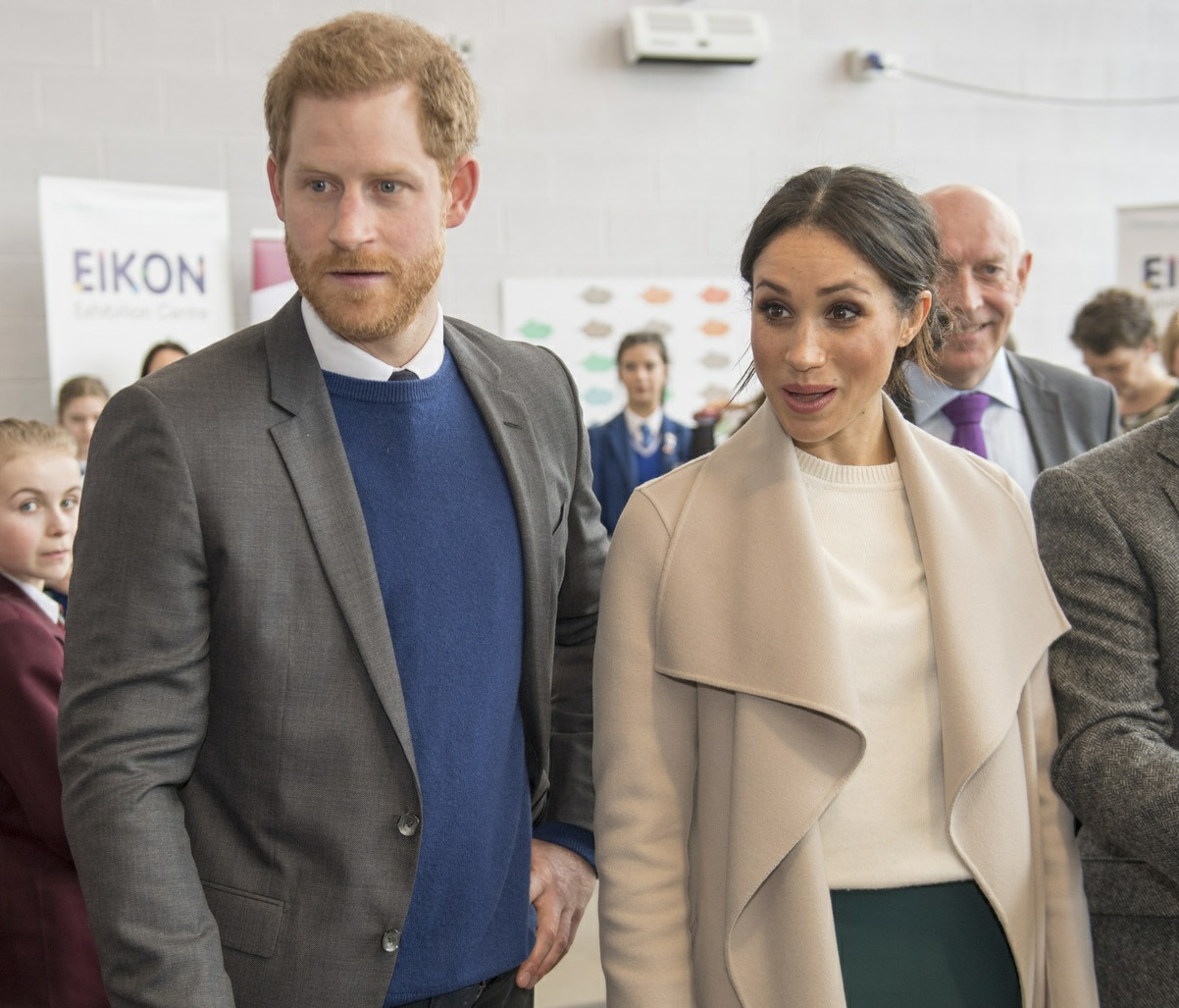 Prince Harry and Meghan Markle visit the Eikon Centre in Lisburn, Northern Ireland, to attend an event to mark the second year of youth-led peace-building initiative Amazing the Space