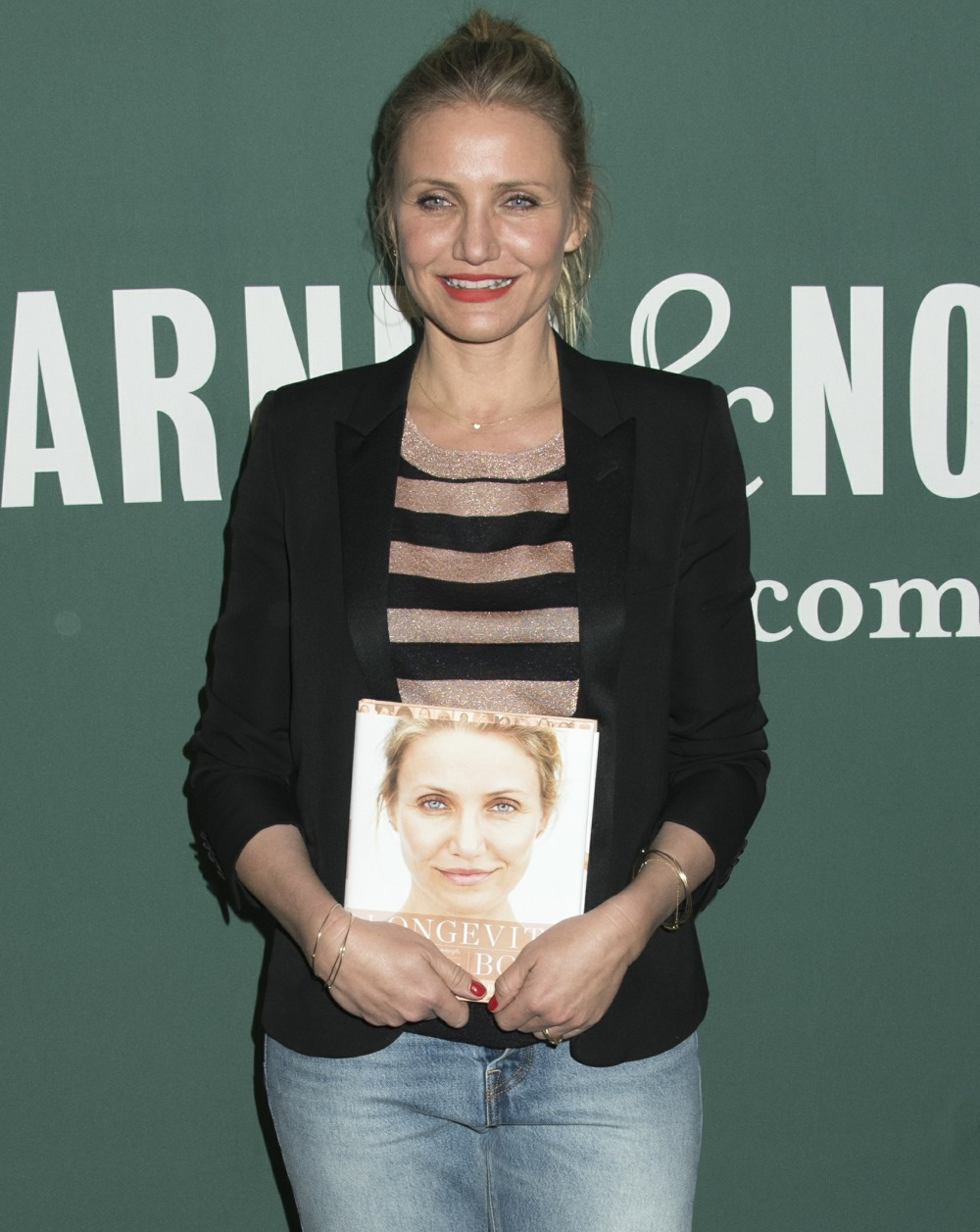 Cameron Diaz attends her book signing for 'The Longevity Book: The Science of Aging, the Biology of Strength, and the Privilege of Time'