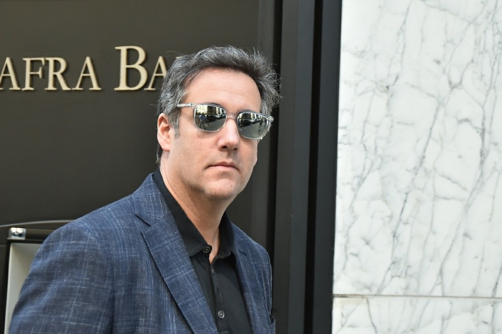 President Trump's lawyer Michael Cohen leaves his Park Avenue Regency Hotel the day after the US Justice Department announced that Cohen is under criminal investigation for his business dealings