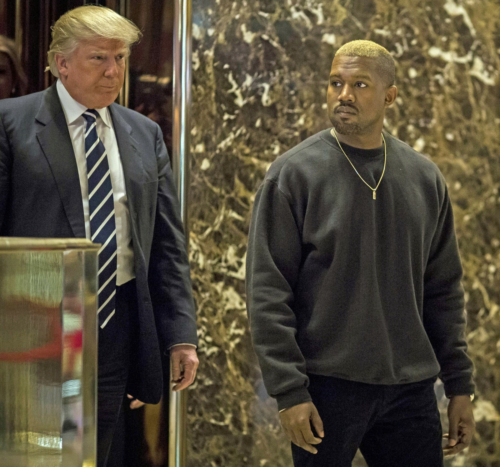 Donald Trump and Kanye West Meet at Trump Towers