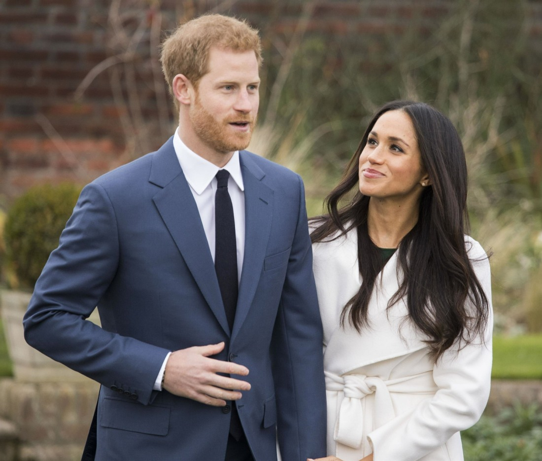 el Príncipe Harry y Meghan Markle anunciar su compromiso en el Palacio de Kensington
