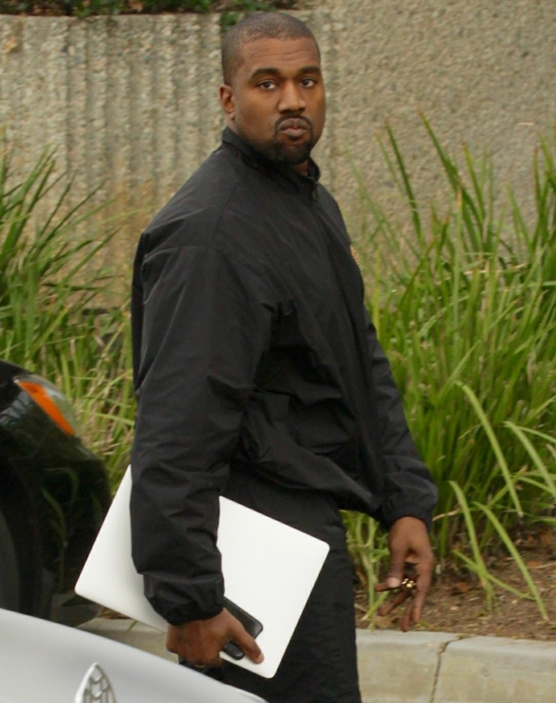 Kanye West heads to the office after the birth of his third child in Calabasas, CA