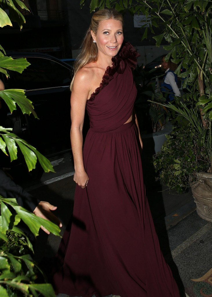 Gwyneth Paltrow is seen arriving to her black tie event