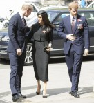 Prince Harry, Meghan Markle and Prince William at Anzac Day Memorial Service