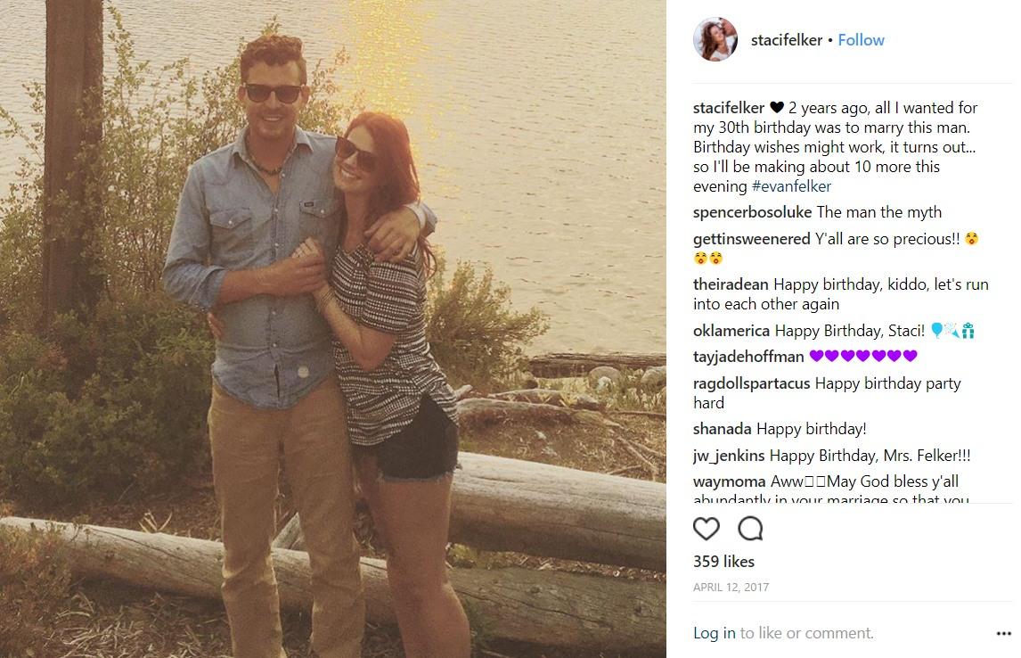 Staci Felker Instagram post with husband EVan