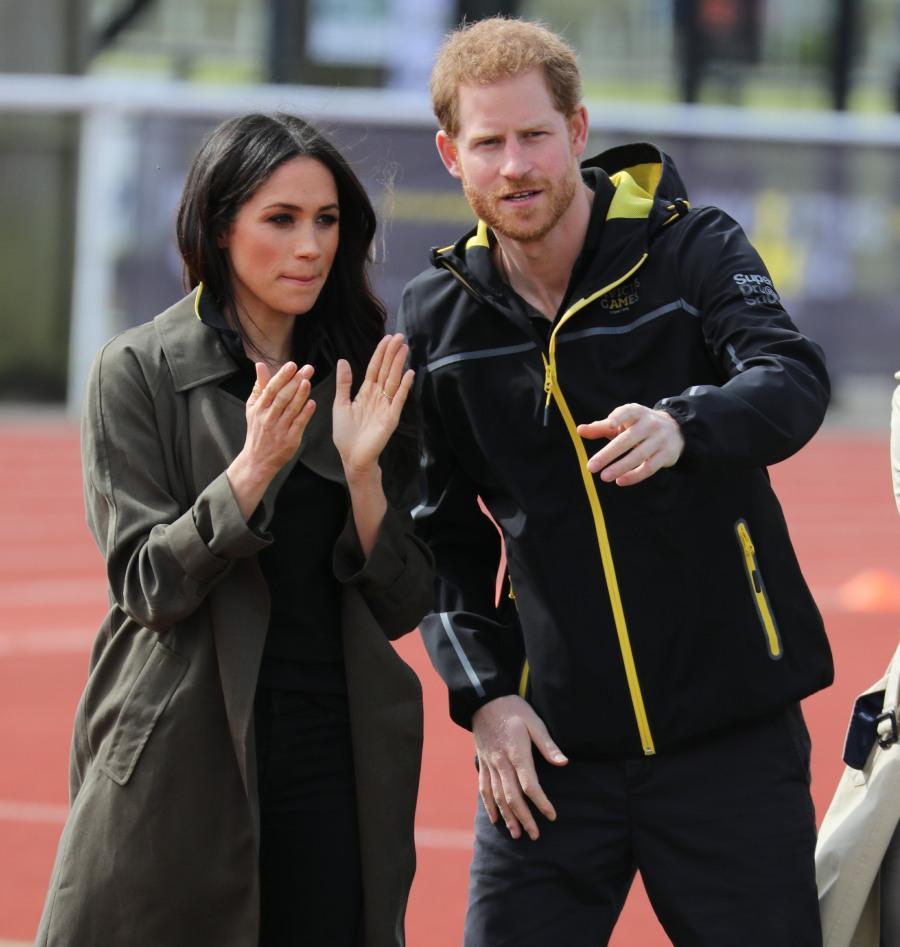 el Príncipe Harry y Meghan Markle asistir al equipo del reino unido ensayos en el Baño