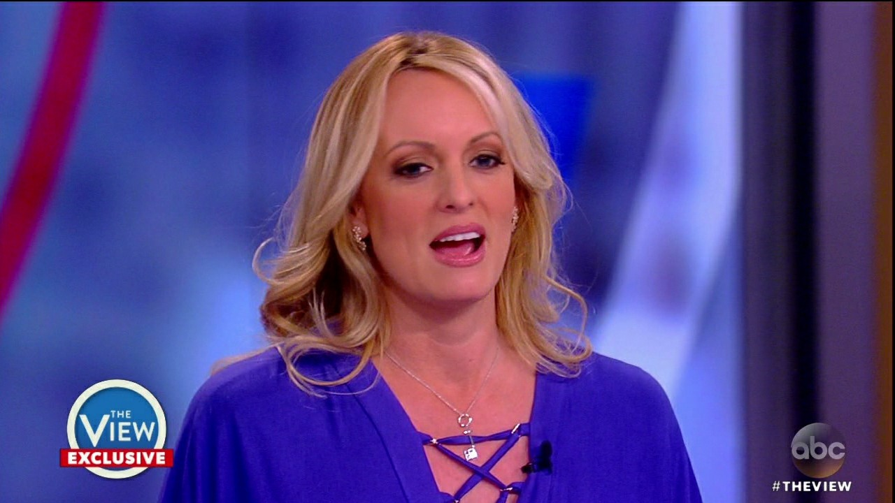 Stormy Daniels during an appearance on ABC's 'The View.