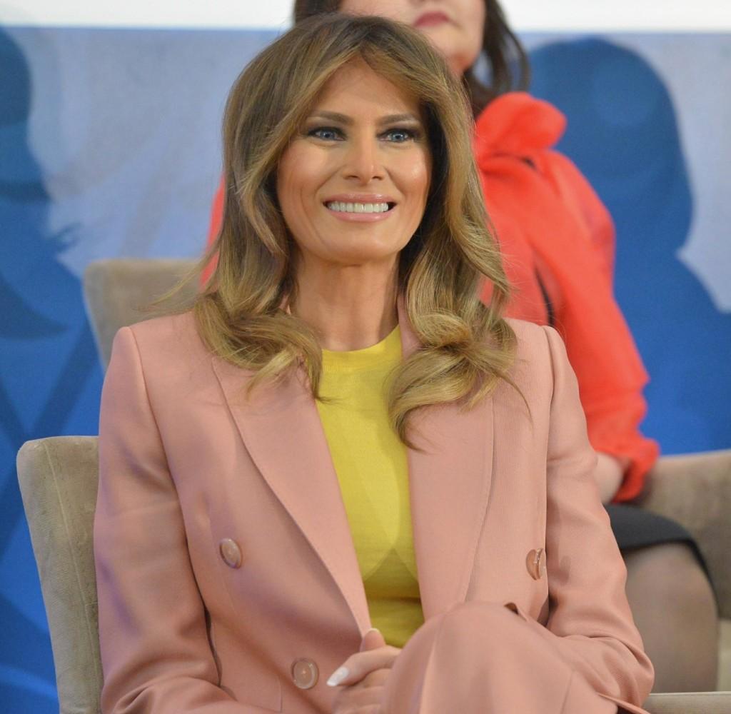 Melania Trump speaks at the Secretary of State's International Women of Courage