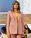 Melania Trump speaks at the Secretary of State's International Women of Courage