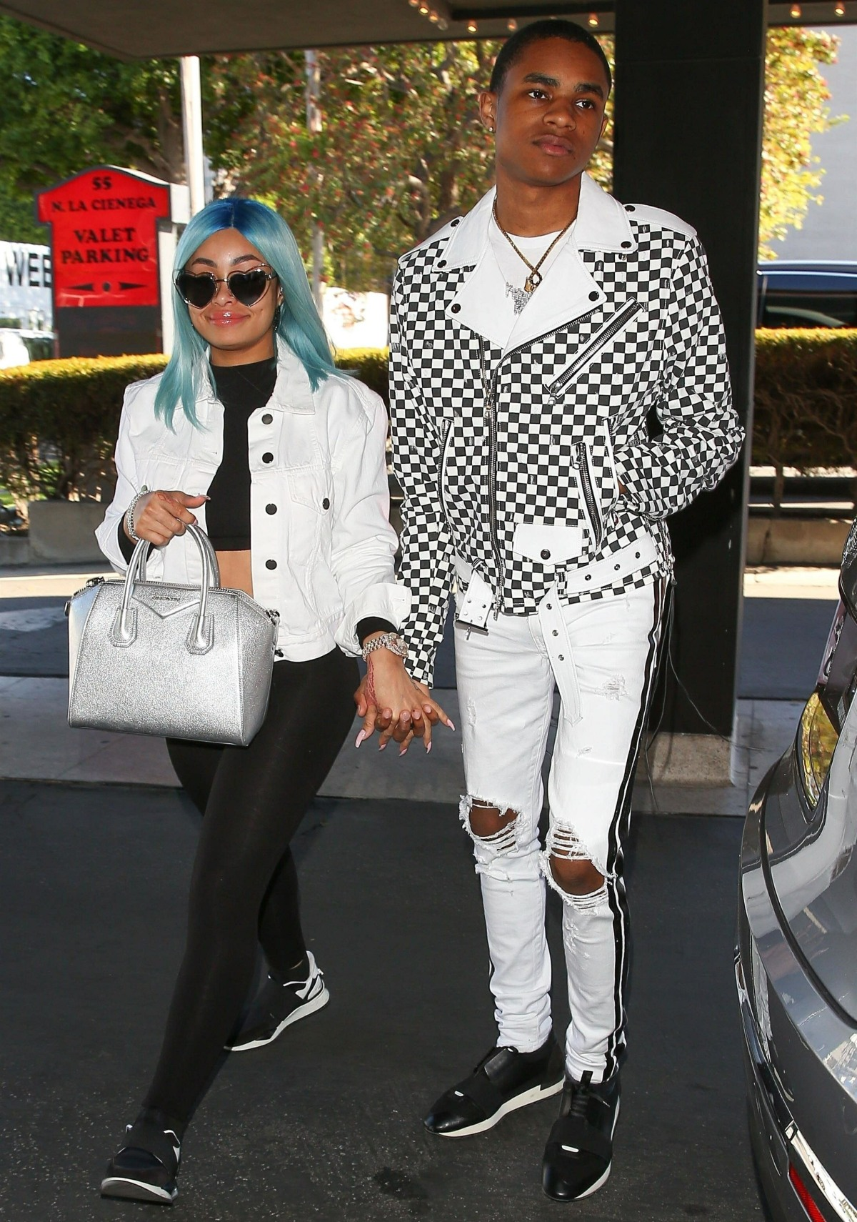 Blac Chyna and YBN Almighty Jay step out for lunch in Beverly Hills