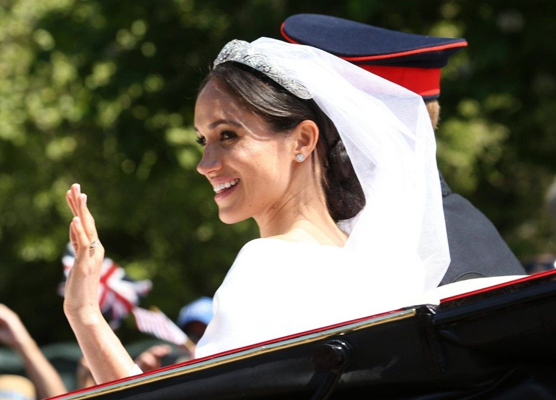 Prince Harry and Meghan Markle leaving George's Chapel after the Royal Wedding in Windsor