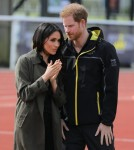 Prince Harry and Meghan Markle attend the UK team trials in Bath