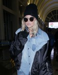 Fergie arrives at Los Angeles International (LAX) Airport