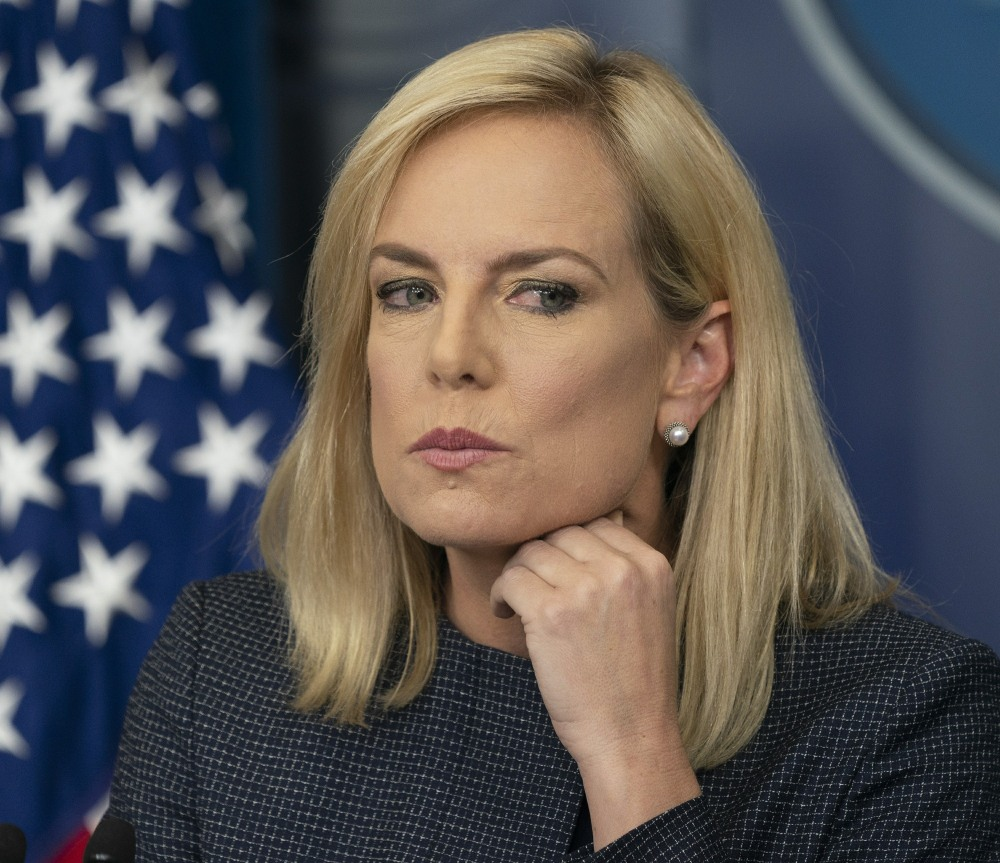 U.S. Secretary of Homeland Security Kirstjen Nielsen holds a news briefing at the White House