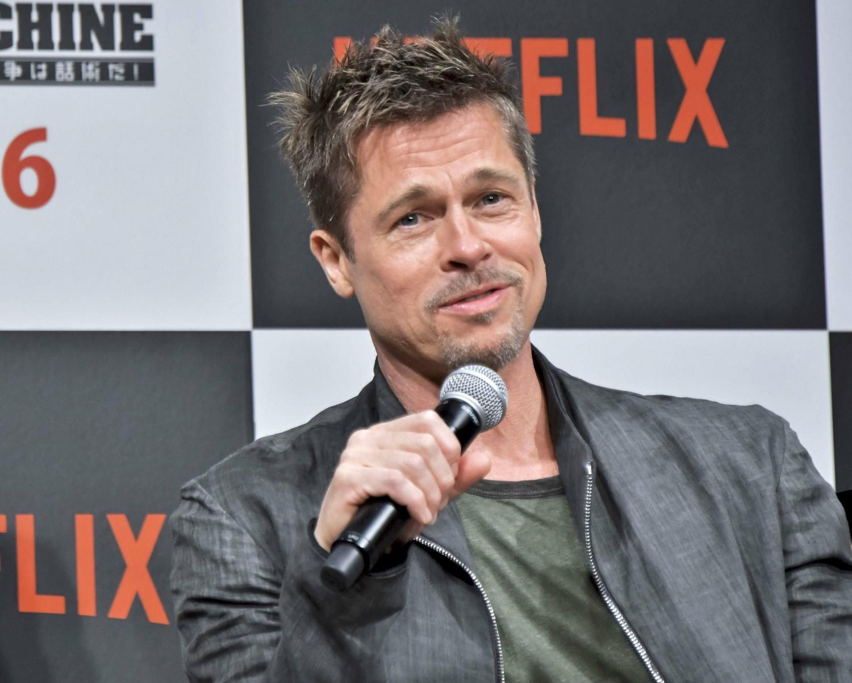 """Brad Pitt attends Press conference to NETFLIX Film """"War Machine"""" in Tokyo"""